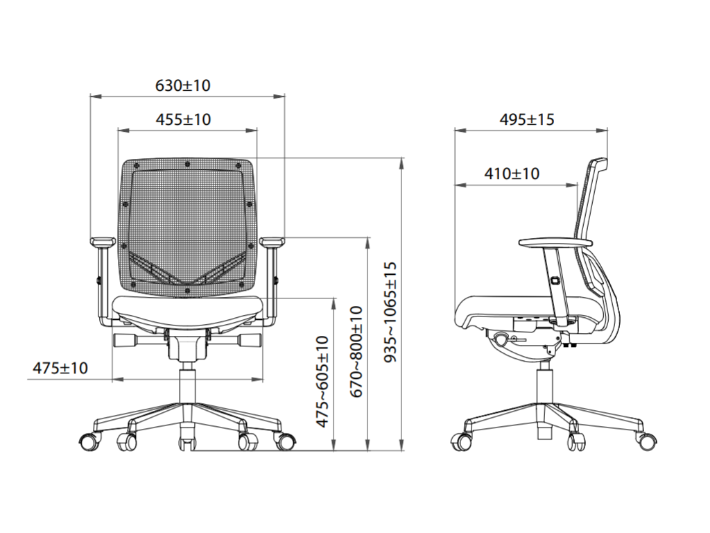 Bureaustoel Omnia A300 Netweave